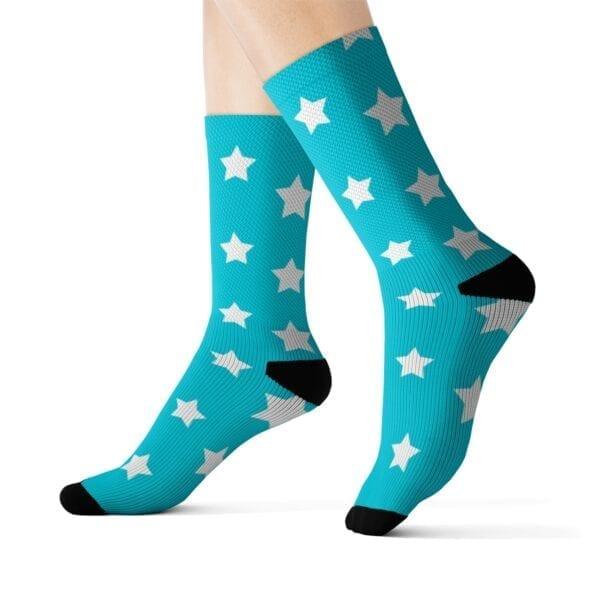 rockin start socks turquoise