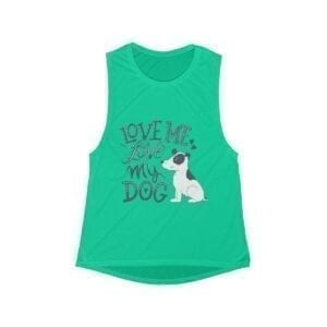 Dog Lover Women's Flowy Scoop Muscle Tank