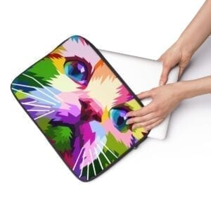 colorful kitty cat laptop sleeve