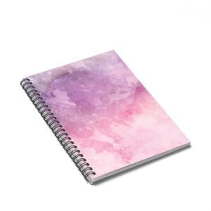 Pink Watercolor Spiral Notebook - Ruled Line