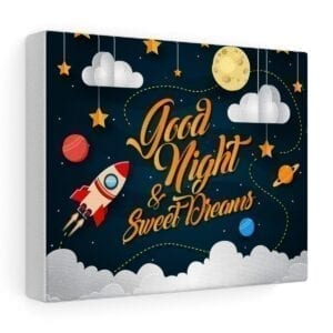 good night and sweet dreams wall art