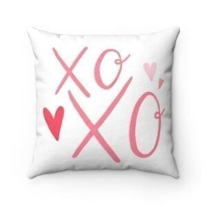 xoxo accent pillow