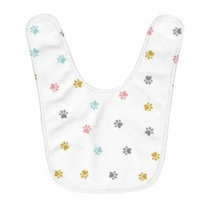 Fleece Paws Baby Bib