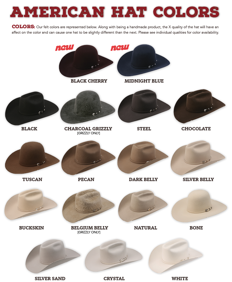 Hat Sizes Shapes And Colors American Hat Company
