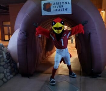 AZ Liver and the MegaLiver makes appearance at Phoenix Zoo's Festival De La Vida