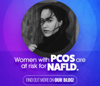 Woman with hair blowing, PCOS and NAFLD, Clinical research studies