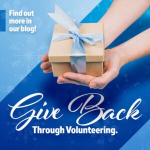 Give back through volunteering