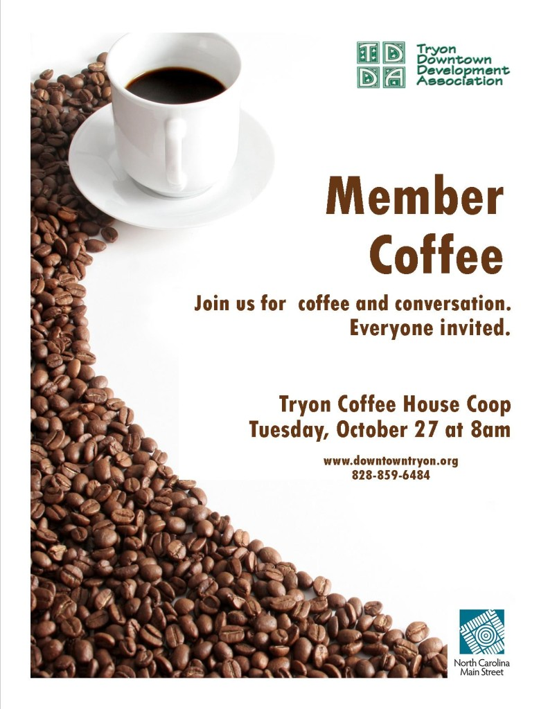 Flyer for member coffee