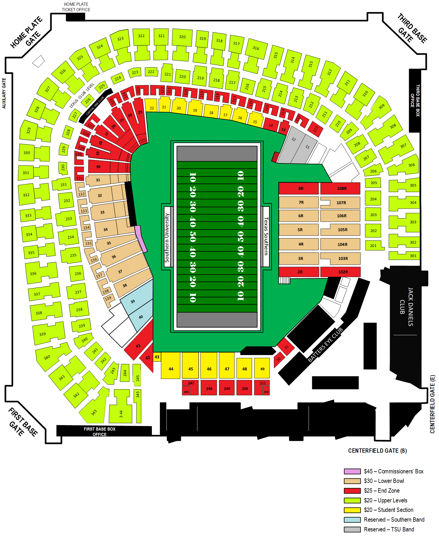 2021 AFS Seating Map