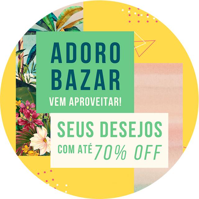 06456aeb5 Já tá sabendo que tá rolando bazar no site e em lojas selecionadas  O bazar  é a chance de você garantir seus desejos com até 70% de desconto.