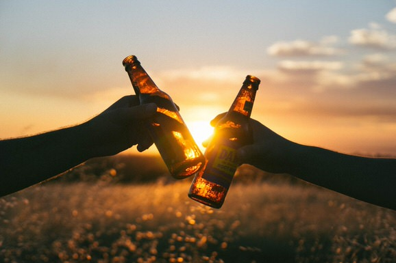 beer-sunset