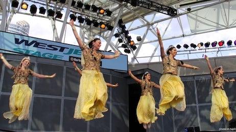 رقصهای ایرانی باله ملّی پارس در جشنواره نوروزی تیرگان