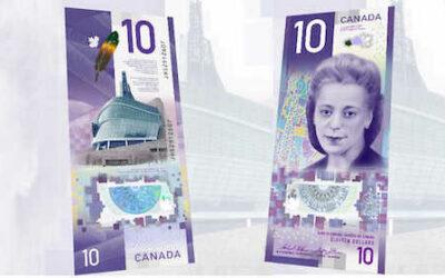 اسکناس ۱۰ دلاری کانادا به عنوان بهترین اسکناس دنیا شناخته شد