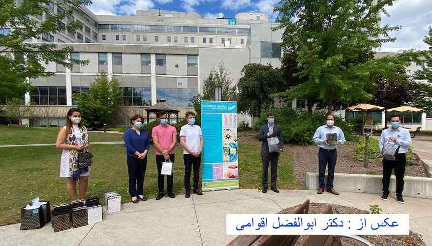 قدردانی شیرینیسرای تورنتو از کادر درمان بیمارستان