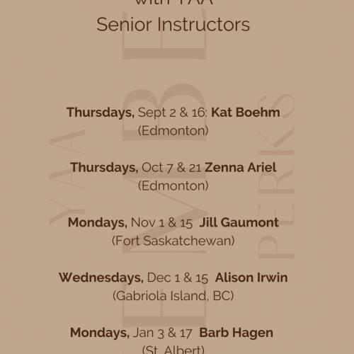 Showcase Schedule