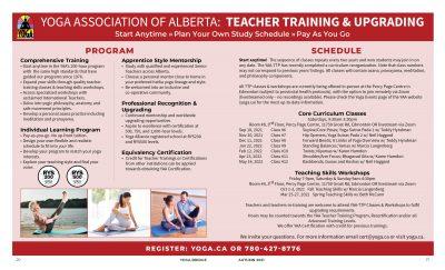 Teacher Training & Upgrading Class Schedule
