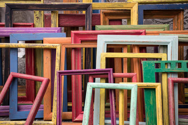 Use Frames to Create Geometric Art for Your Home