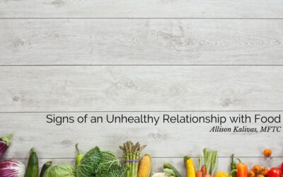 College Series: Signs of an Unhealthy Relationship with Food
