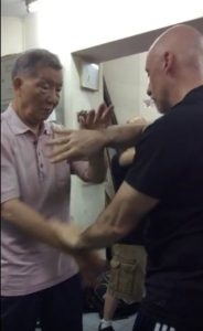 Ip Ching practicing chi sao with Sifu Matt Johnson
