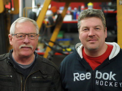 Marc Chartrand and his father at International Dyno Authority