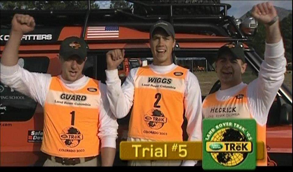 Will with his Land Rover Columbia teammates at Land Rover TReK 2003 in Colorado.