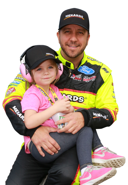 Matt Crafton and his daughter Elladee Crafton 2017