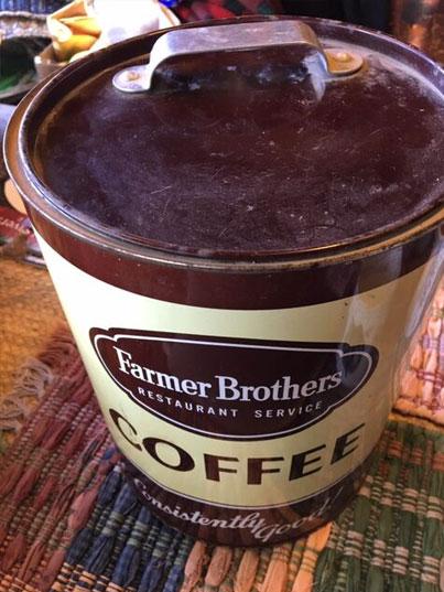 Farmer's Brothers Coffee Tin