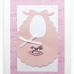 Isabella Handcrafted Cards Baby Bib Girl