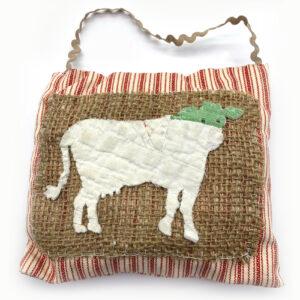 Isabella Handcrafted Cards Vintage Cow Quilt Hanger