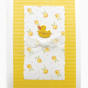 Isabella Handcrafted Cards Duckie Card with Ribbon Duckie Card with Ribbon