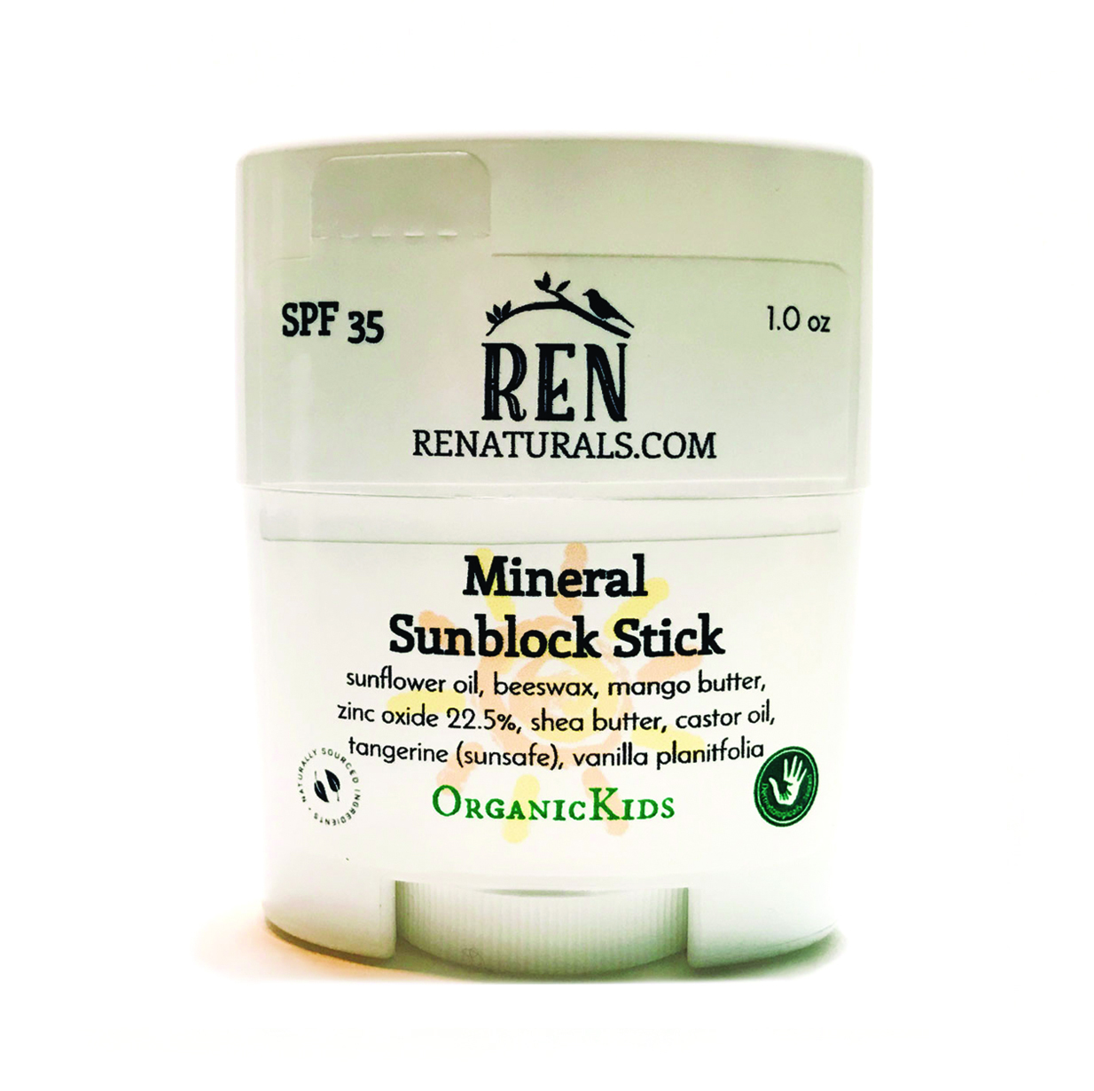 ReNaturals: Botanical Skincare Mineral Sunblock Stick SPF 35 1 oz.