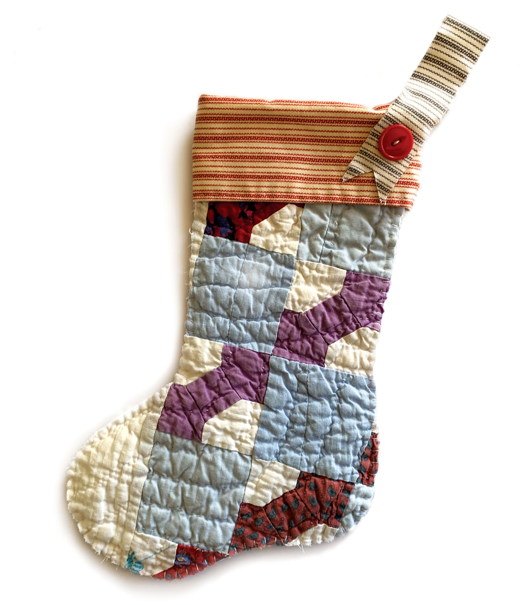 Isabella Handcrafted Cards Vintage Quilt Stocking