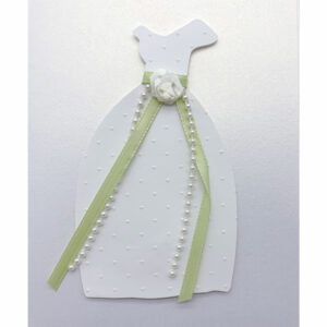Isabella Handcrafted Cards Wedding Dress