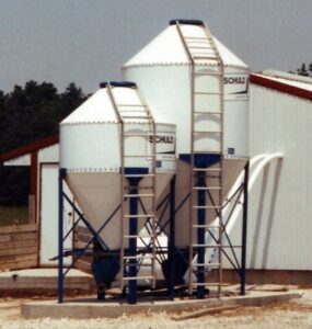 Feed storage for feeding system.