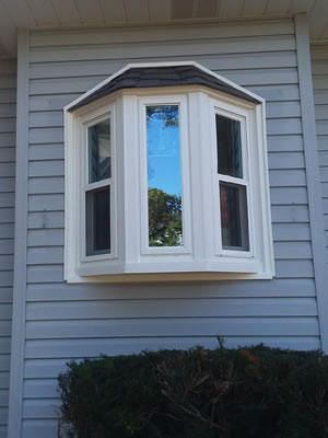 After-Bay window with two double hung