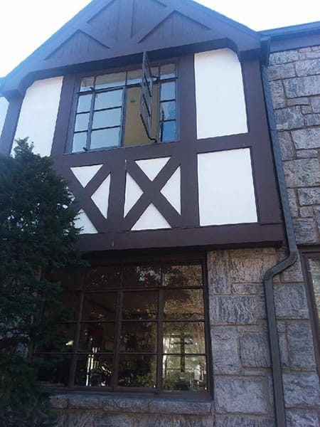 Before-First and second floor crank windows replaced with energy efficient casement windows