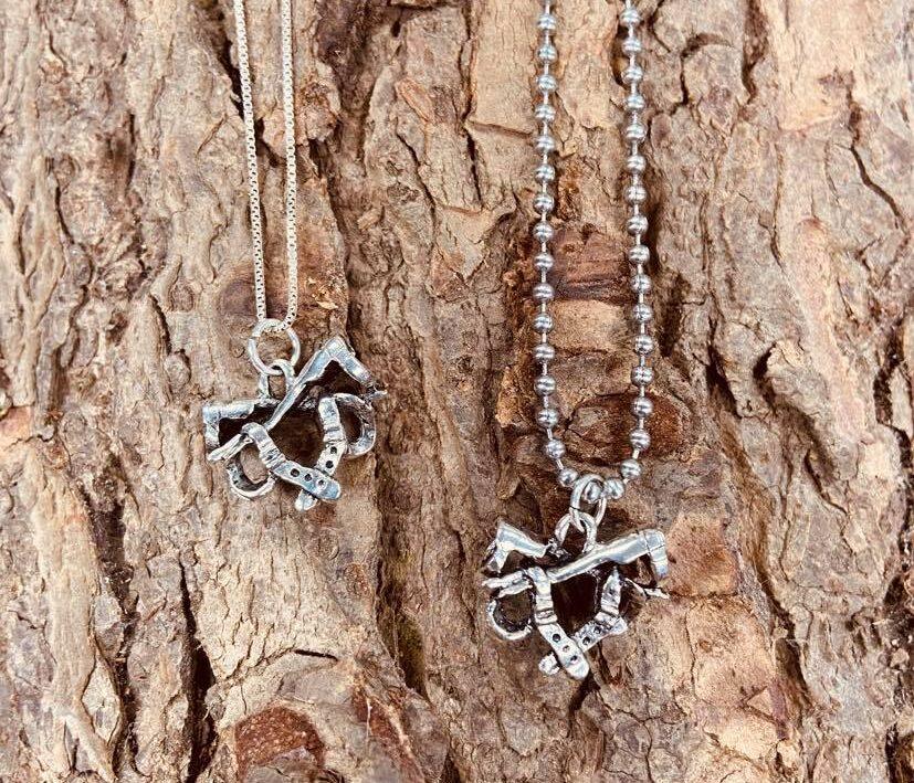Climbing Lineman Hooks Charm for Necklace or Bracelet