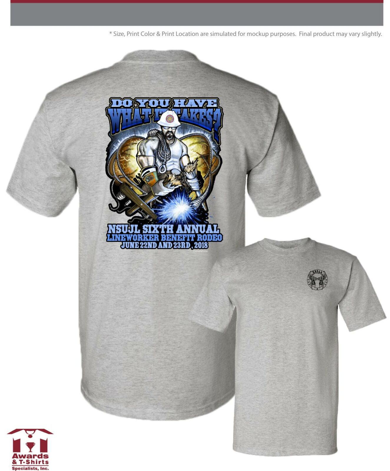 2018 Lineman Rodeo Do you have what it takes t-shirt