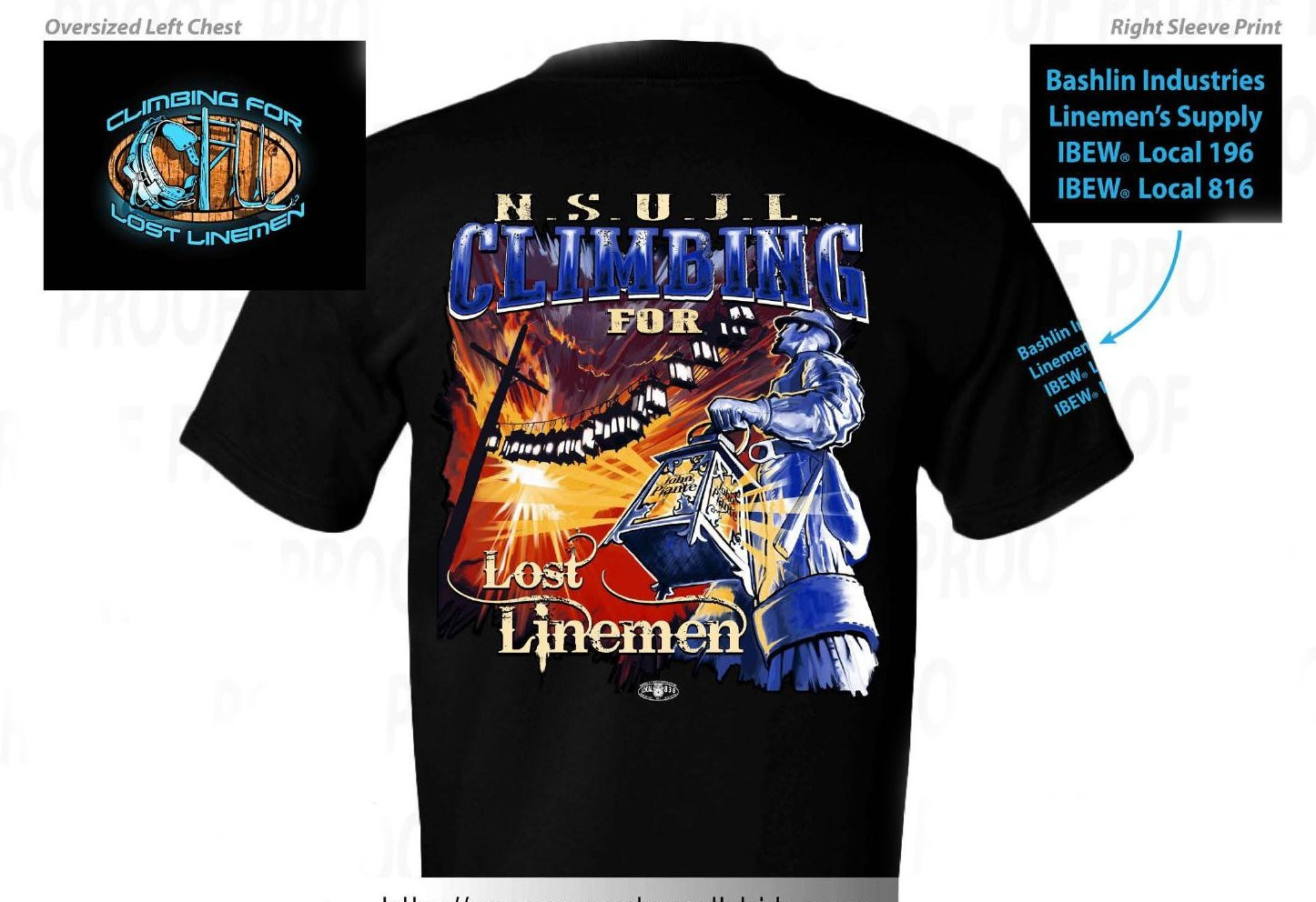 2017 Climbing for Lost Linemen T-shirt
