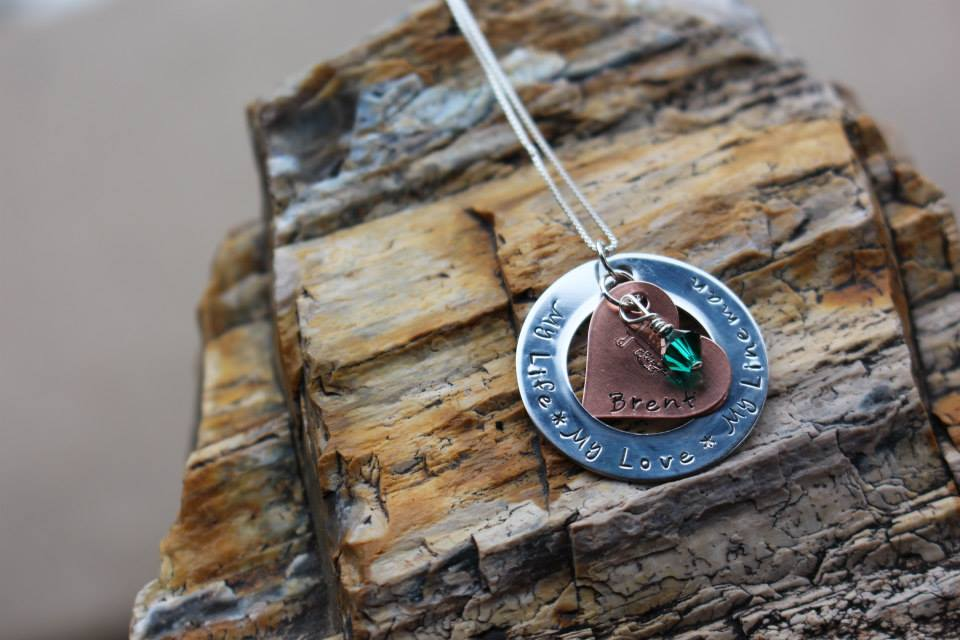 Custom Lineman Stamped Pendant and Necklace