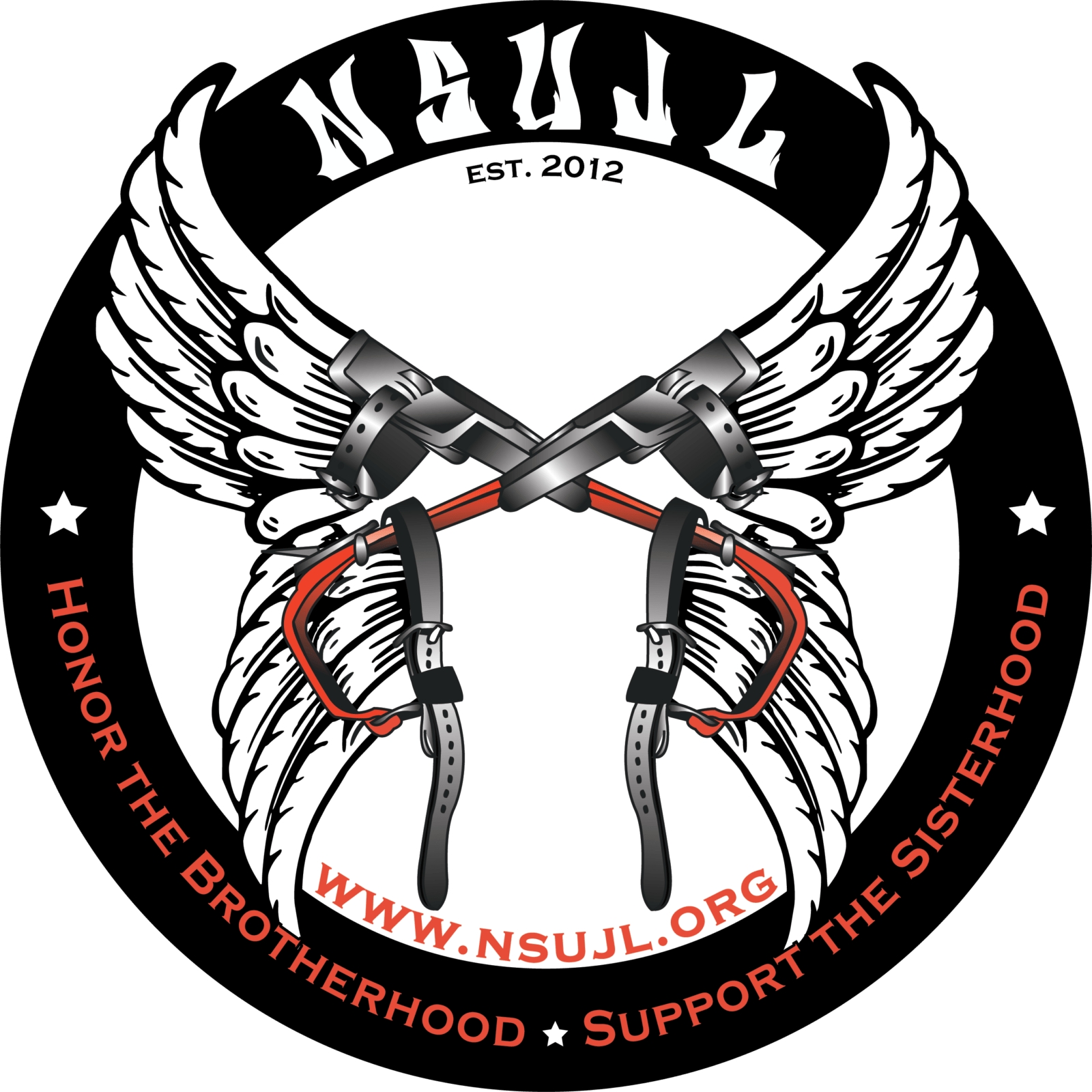 NSUJL logo hard hat stickers