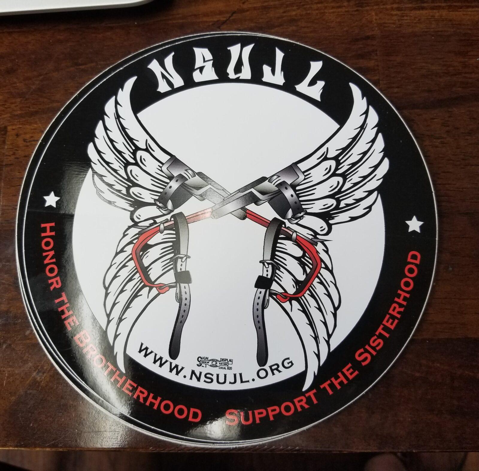 NSUJL Logo Round Auto Decal