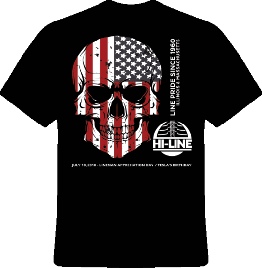 2018 Hi-Line Utility Supply Line Pride T-shirt