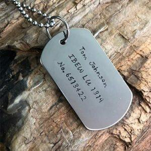 NSUJL Lineman Dog Tags