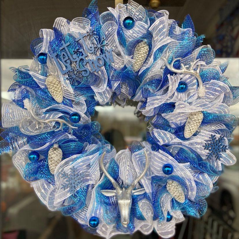 Icy Woodland Winter Wreath