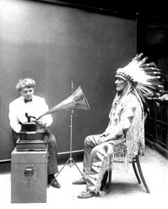 Frances_Densmore Recording_Mountain_Chief Native American
