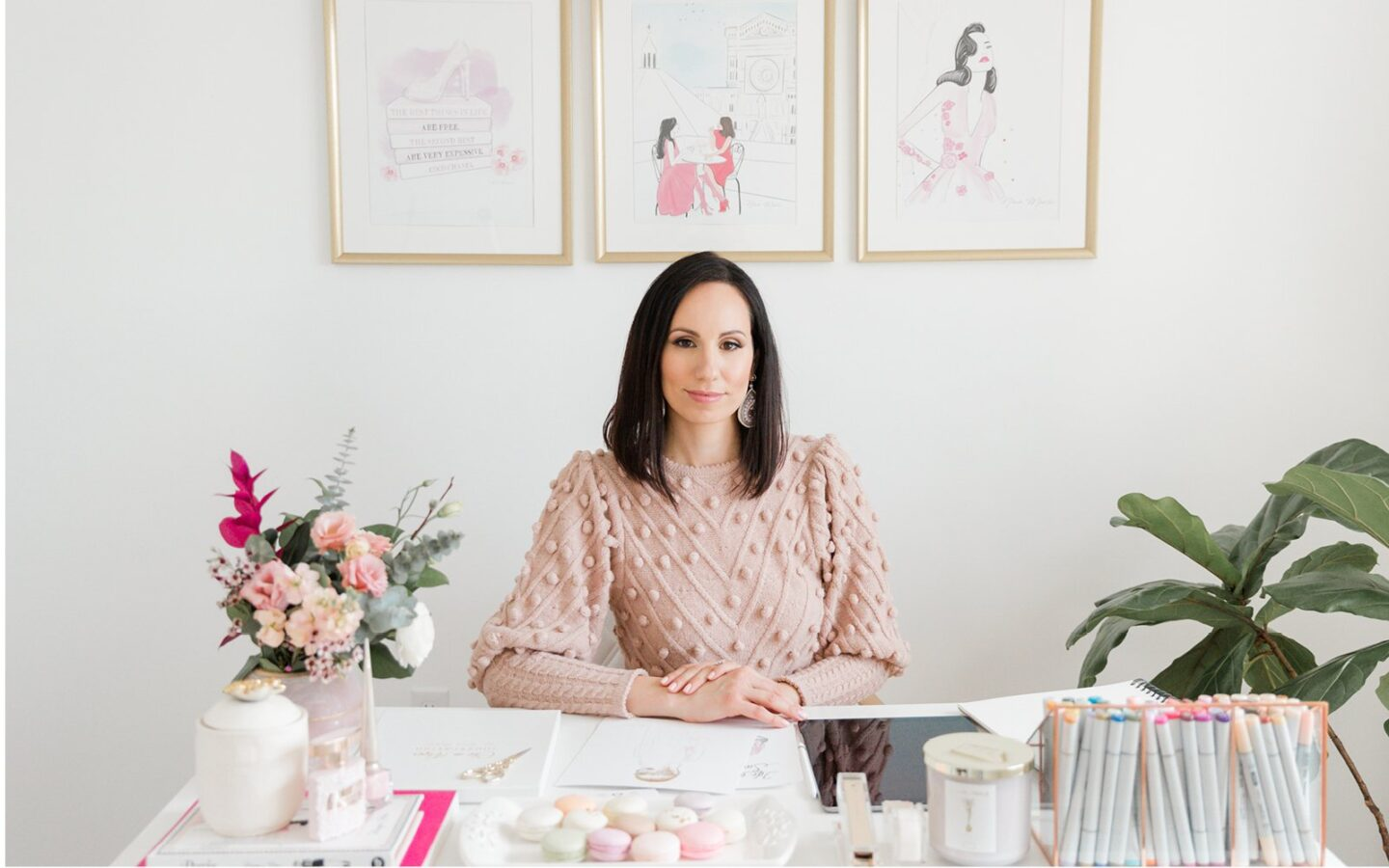 Interview With Nina Maric - The Artist Behind the Brand Chic on Paper