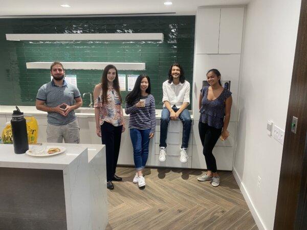 Chainbridge Solutions 2021 Summer Interns Ahmad Taka, Megan Rudo, Grace Choi, Keshav Tarafdar, and Anjana Raman.