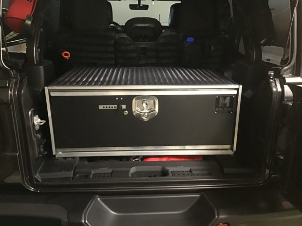 Custom Cargo Storage Box for 2018 Jeep Wrangler