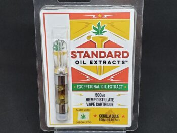 Standard Oil – 500mg CBD Vape Cartridge – Gorilla Glue